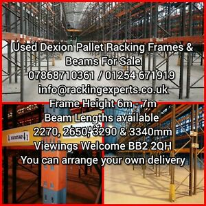 Used Dexion Pallet Racking Frames And Beams BB2 2QH