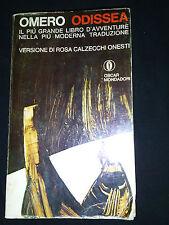 OMERO Odissea versione di R. Calzecchi Onesti Oscar Mondadori 1969 in italiano