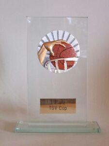 """Glas-Pokal """"Basketball"""" mit Wunschgravur"""