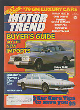 Motor Trend Magazine April 1978 Volvo Nissan Bmw Pontiac Olds