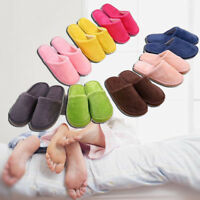 Women Men Winter Slippers Cotton Plush Solid Shoes Indoor Home Decor Warm Casual