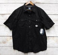 Black Jack Mens 2XL Black w/ Stitched Accents Slim Fit Button Front Shirt New