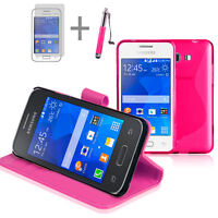 HOT PINK Wallet 4in1 Accessory Bundle Kit Case Cover For Samsung Galaxy Young 2