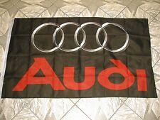 Fahne Audi Schwarz - 90 x 150 cm