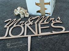 Mr & Mrs Personalised, Wedding Cake Topper, Hardwood, Vintage, Rustic Weddings