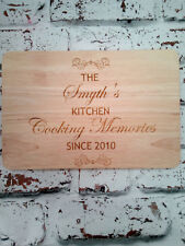 Personalised Wooden Cheese or Chopping Board Custom Any Message Laser Engraved