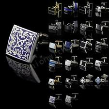Mens Novelty Stainless Steel Square Vintage Wedding Party Gift Shirt Cufflinks