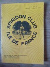 Magazine Spiridon Club Île de France N 4 janvier Février 1983  - Collector