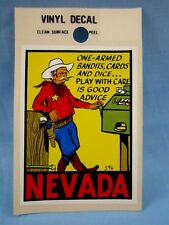 Vintage... **NEVADA - GAMBLING** STICKER / DECAL  (NEW OLD STOCK)  ~L@@K~