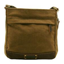 Tropa De Londres-Brown patrimonio Messenger Bag en canvas-leather