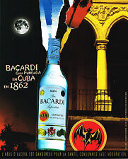 PUBLICITE ADVERTISING 075  2001  RHUM  BACCARDI de CUBA 3