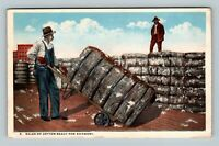 Bales Of Cotton Ready For Shipment, Vintage c1919 Postcard