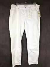Lucky Brand NWT Womens White Jeans Sz 12/31 Super Stretch Brooke Ankle Skinny 82