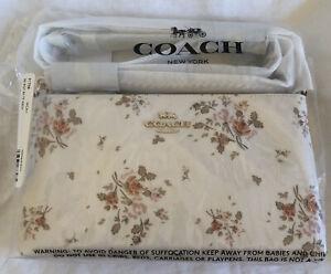 BNWT Coach Rose Bouquet Print Zip Top Crossbody Bag 91758 Chalk Multi