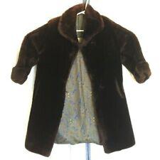 Vintage Yvonne Label Authority Fur Coat Jacket Women's Size 8