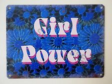 Girl Power Feminist CND Green Peace Psychedelic 1960s Style Small Tin Sign