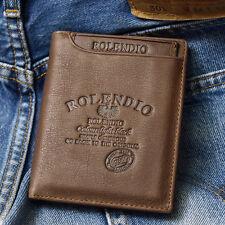 Vintage Style Credit Card Men's Leather Wallet PLUS Mini ID Wallet Purse-J342