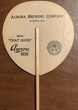 Aurora Brewing Co. Illinois That Good Beer Pre Pro Hand Fan Brewery