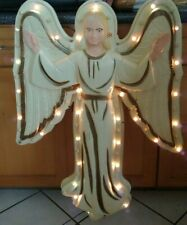 """Vintage Nativity Angel Empire Hard Plastic Wall Mount Blow Mold Lighted 33"""""""