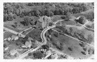Huntington Indiana~Huntington College~University Birdseye~Homes~1950s RPPC