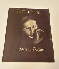 Houdini Souvenir Program 1979 Jacobs Antique Jewels series reprints Htf Magician