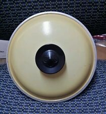 """New listing Vintage Club Aluminum Yellow Gold Lid Small 7 1/2"""""""