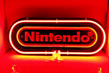 """Nintendo Red 3D Carved Neon Sign 14""""x4"""" Lamp Light Beer Bar With Dimmer"""