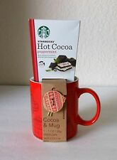 STARBUCKS COFFEE CO 2015 COCOA & MUG RED WITH ORNAMENTS