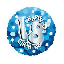"""blau glänzend Happy 18. Geburtstag 18 """" Helium Folienballon Partydekorationen"""