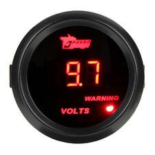 2'' 52mm Digital LED Volt Meter Electronic Voltage Gauge Tint Lens Red Light 12V