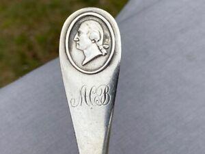 Coin silver George Washington bust handle Newell Harding +Co Boston MA c 1850