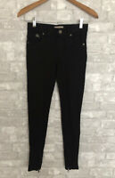 Burberry Brit Bayswater Stretch Skinny Ankle Black Pants Size Small Ankle Zips