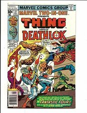 MARVEL TWO IN ONE # 27 (THE THING & DEATHLOK, CENTS ISSUE, MAY 1977), FN/VF