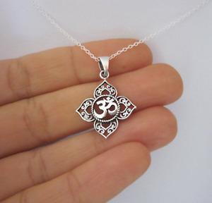Unisex Buddha Lotus Flower Pendant Necklace - UK Stock