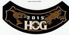 2015 HOG Members rocker Patch HARLEY DAVIDSON OWNERS GROUP HD MC club life