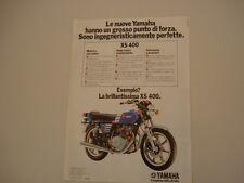 advertising Pubblicità 1978 MOTO YAMAHA XS 400