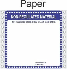 Non Regulated Material Paper Labels HWL276P (PACK OF 500)