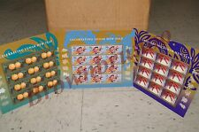 Lunar Year of RABBIT 2011, DRAGON 2012, SNAKE 2013 USPS Stamps Collection Lot