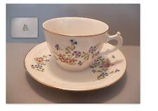 """belle tasse et sous-tasse a thé ancienne en porcelaine de limoges,decor""""barbeau"""""""