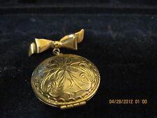 Vintage Solid Perfume Jewel Locket Pin...1971 ....sold by AVON.....#303