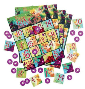 TINKERBELL Disney Fairies Birthday pixie party supplies BINGO GAME for 8 guests