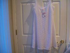 Girl  Bongo White Crochet Swimsuit Top Cover Up  Juniors Size XL