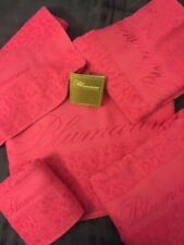 NWT Blumarine Home Collection 5 Piece Towel Set Hot Pink Resort