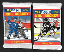 1990-91  SCORE (AMERICAN) HOCKEY , 2  PACKS      ( FACTORY SEALED )