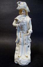 "Bisque Porcelain Figurine *Gentleman with Dove* - Japan - 8 5/8"" H -White/Gilt"