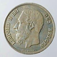 Belgio 5 Franchi 1870 Argento