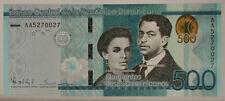 REPUBBLICA DOMINICANA DOMINICAN REPUBLIC 500 PESOS DOMINICANOS 2014 #B711