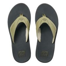 Reef NEW Men's Fanning Flip Flops - Deep Olive BNWT