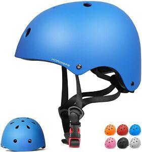 KORIMEFA Kids Bike Helmet Skateboard Scooter Head Protect Adjustable (Blue, S)