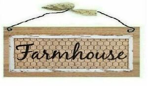 Primitive Farmhouse Picture Southern Country Wooden Wall Hanging Sign Plaque